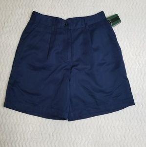 NEW Nike Golf Women Shorts Bermuda Sz 6 Navy Blue